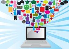 Comunicación social de los media Imagen de archivo libre de regalías