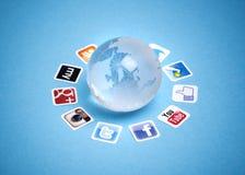 Comunicación social del establecimiento de una red Imágenes de archivo libres de regalías