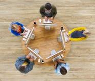 Comunicación social del establecimiento de una red del grupo de personas imagen de archivo libre de regalías