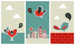 Comunicación social fresca de los pájaros de los media Imagen de archivo libre de regalías