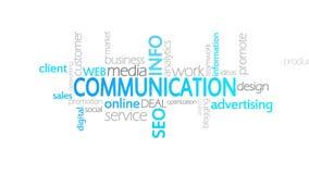 Comunicación, tipografía animada ilustración del vector
