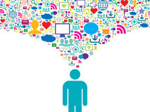 Comunicación estratégica en red social Foto de archivo