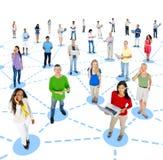 Comunicación social del establecimiento de una red Foto de archivo