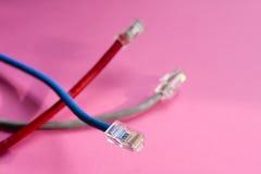 Comunicaciones atadas con alambre Fotografía de archivo libre de regalías