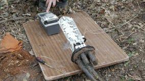 Comunicaciones de la brigada de la emergencia almacen de video