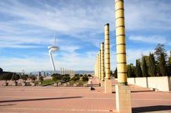 Comunicaciones de Montjuic Imagenes de archivo