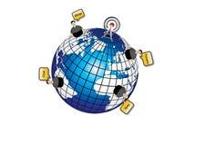 Comunicaciones del globo Fotografía de archivo
