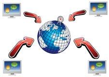 Comunicaciones del globo Imagen de archivo libre de regalías