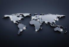 Comunicaciones del globo Fotografía de archivo libre de regalías