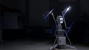 Comunicaciones electrónicas sofisticadas de alta tecnología, radio o antena de TV Demostración de la antena de alta tecnología di Foto de archivo libre de regalías