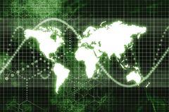 Comunicaciones empresariales mundiales verdes stock de ilustración