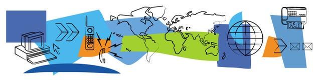 Comunicaciones globales Imagen de archivo