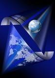 Comunicaciones globales azules Imagenes de archivo