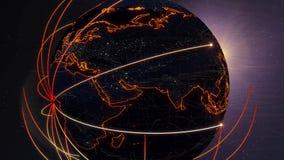 Comunicaciones 4k del mundo stock de ilustración