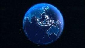 Comunicaciones virtuales de la tierra stock de ilustración
