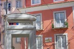comunicacoestelefon offentliga portugal liter Arkivfoton