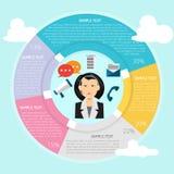 Comunicador Infographic stock de ilustración