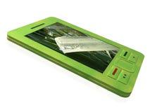 Comunicador verde ilustración del vector
