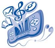 Comunicador y auriculares Imagenes de archivo