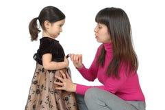 Comunicando con bambino Fotografie Stock Libere da Diritti