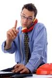 Comunicando sul telefono Immagine Stock Libera da Diritti