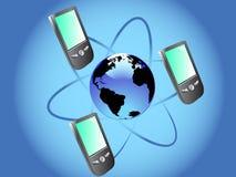 comunication移动电话 免版税库存照片