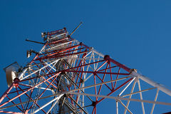 Comunication antenna. Against blue sky Royalty Free Stock Image
