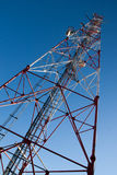 Comunication antenna. Against blue sky Royalty Free Stock Photography