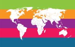Comunication do mapa de mundo Imagem de Stock Royalty Free