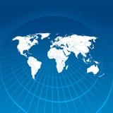 Comunication do mapa de mundo Fotos de Stock Royalty Free