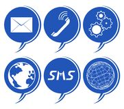 Comunication icons Stock Image
