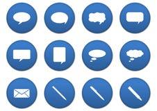 Comunication icons Stock Photo