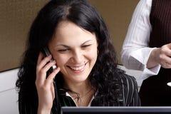 Comunication_smile Stockfotografie