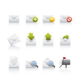 comunications ikony poczta set Zdjęcia Stock