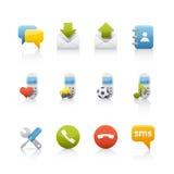 comunications ikony set Obraz Royalty Free