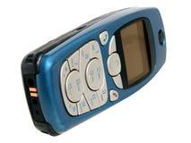 Comunications: Teléfono celular aislado en blanco Fotografía de archivo libre de regalías