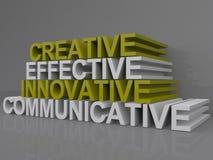 Comunicativo innovador eficaz creativo Imágenes de archivo libres de regalías