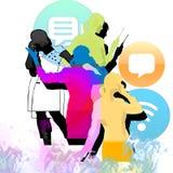 Comunicazione - affare Immagini Stock Libere da Diritti