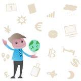 Comunicazione al mondo illustrazione di stock