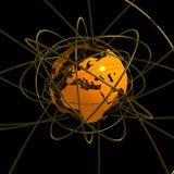 Comunicazione arancione del globo Fotografia Stock Libera da Diritti