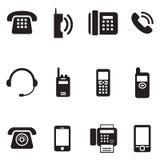 Comunicazione, chiamata, annata del telefono, retro vettore Illus del telefono Immagini Stock Libere da Diritti