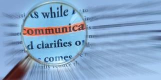 Comunicazione con la lente d'ingrandimento Immagine Stock Libera da Diritti