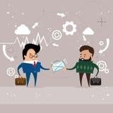 Comunicazione del documento della posta della busta di elasticità dell'uomo di affari due illustrazione vettoriale