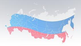 Comunicazione del mondo - Russia - bandiera di paese - impronta digitale punteggiata su fondo bianco royalty illustrazione gratis