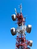 Comunicazione del ripetitore dell'antenna Fotografia Stock