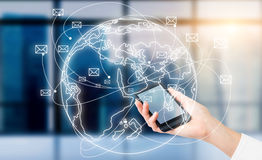 Comunicazione del telefono illustrazione di stock