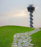 Comunicazione dell'aeroporto della torre del radar Fotografie Stock Libere da Diritti