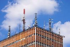Comunicazione dell'antenna Fotografia Stock