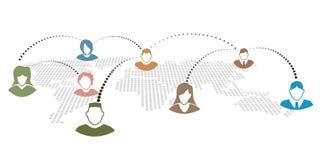 Comunicazione della gente illustrazione di stock