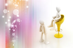 comunicazione della gente 3d insieme Fotografie Stock